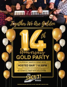 14 Year Anniversary Gold Party